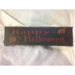 NOS-Halloween Decor Sign-Happy Halloween lot 4