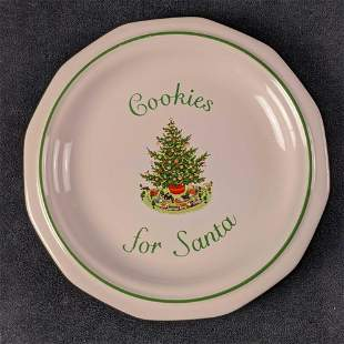 Pfaltzgraff Christmas Plate Cookies for Santa 1994