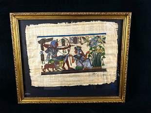 Egyptian Pharaoh King Tut & Queen Hunting Kemet Egypt