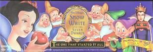 Rare Disney Snow White DVD Bus Advertising Sign