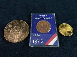 Mixed Lot Bronze - Brass - Copper Commemorative Armed