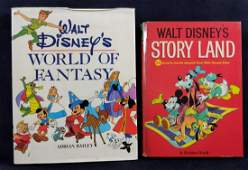 Vintage Classic Disney Hardcover Books Lot Of Two