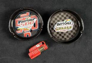 NASCAR Daytona 500 Ashtrays and Dale JR Lightter