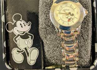 Ladies Disney Accutime Waving Mickey Mouse Watch
