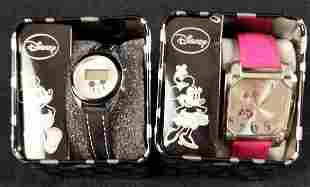Two Disney Mickey Mouse Accutime Adults Watch C