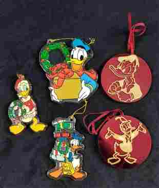Vintage DIsney Acrylic Donald Duck Ornaments Lot Of
