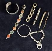 Vintage Jewelry Bracelets Mixed Lot Of 9