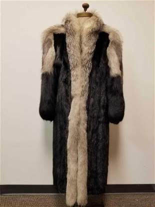 Long Mink Coat with Fox Collar by Burkholder Furs