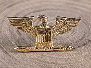 Vintage 14K Gold Patriotic USA Eagle Tie Tack / Pin