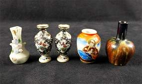 Five Itty Bitty Ceramic Porcelain Bud Vases