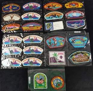 Boy Scout Council Shoulder Badges Lot Of 24 C