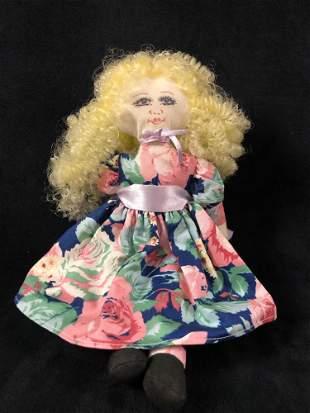 Vintage Hamilton Collection Curly Blond Plush 1991