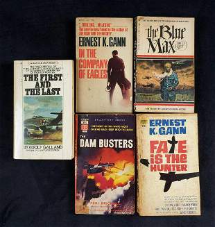 Vintage Bantam War Book Lot Of 5