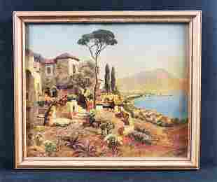 Italy Rome Landscape Oil Painting Print