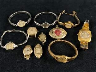 Vintage 11 pc Watch Repair / Parts Lot