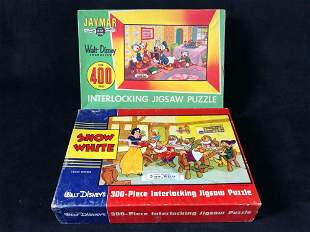 Vintage Lot Of 2 400 pc 1960's Jamar Disney Complete