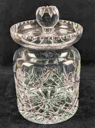 Crystal Cookie Jar With Lid Similar To Waterford