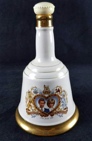 Bells Prince Of Wales Lady Diana Spencer Decanter