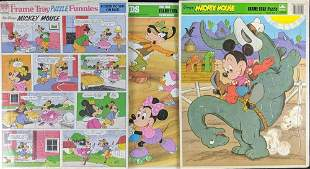 Large Disney Golden Frame Tray Puzzles Mickey Mouse