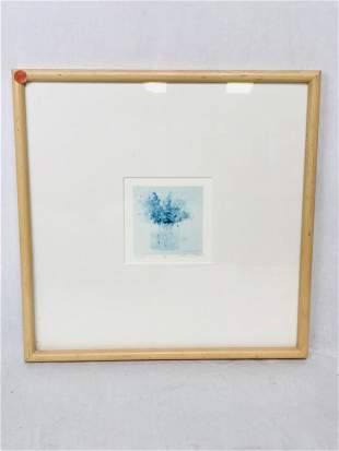 UPDATED...Signed and Numbered Print, Blue Flowers on