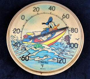 Vintage Disney Springfeld Donald Duck Wall Temperature