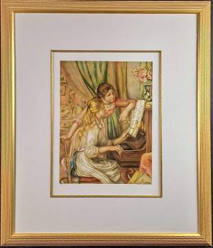Framed Print LE Young Girls at the Piano Renoir X9