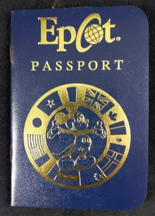 Four Epcot Passport World Showcase Sticker Book