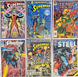 6 Assorted DC Superman The Shadow Zero Hour Comics
