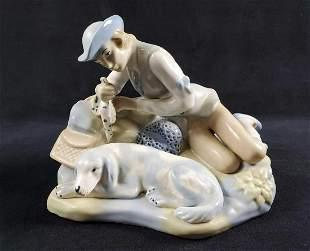 Vintage Palessi Porcelain Hunter Figurine Spain