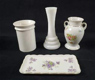 Vintage Porcelain And Glass Lot Of Four