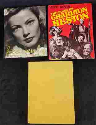 3 Hollywood Actors Actresses Western Books