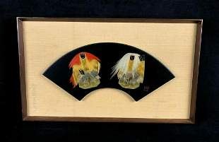 Vintage Wajima - Nuri Lacquered Style Gold Inlay