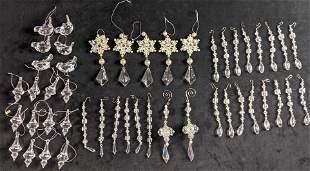 Christmas Clear Acrylic Ornament Lot
