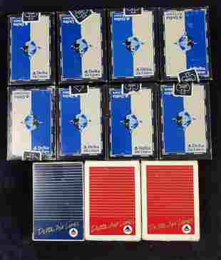 11 Vintage Delta Airlines Playing Cards