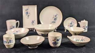 Kozan Gama Kiln Japanese Porcelain Dinnerware Lot Of 47