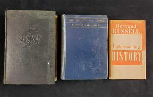 Vintage Three History And Religion Hardcover Book