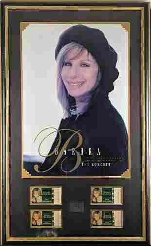 Barbra Streisand Framed Poster MGM Grand Tickets
