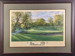 Framed Linda Hartough AP Litho Olympia Fields