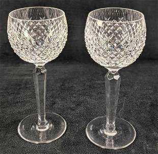 2 Waterford Crystal Alana White Wine Glasses
