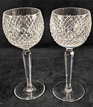Waterford Crystal Alana Two White Wine Glasses