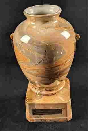 Vintage Jim Beam Whiskey Decanter Bottle Marble Vase B