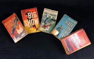 Vintage Military War Books Lot Of 5