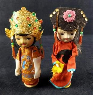 Two Vintage Mandarin Brand Art Doll Girls