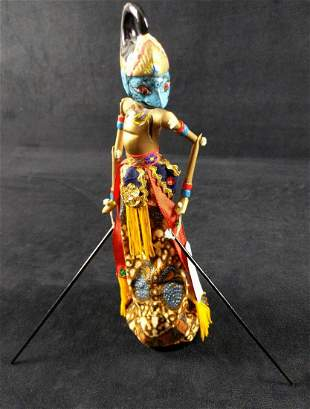 Indonesian Wayang Golek Marionette Bima Rod Puppet