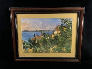 Vintage Original Sighed Oil On Canvas Board Outdoor