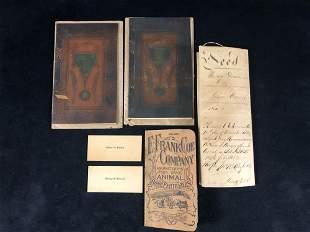 Antique Lot Of Documents Land Deed - Graduation