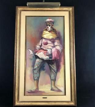 Antique Rare Original Sighed Philippe Oil On Canvas