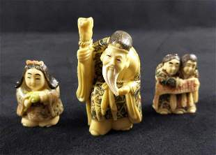 Chinese Resin Figures Lot Of Three