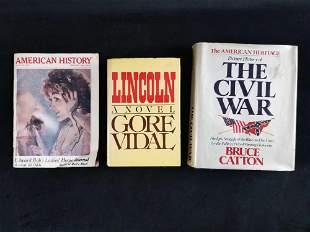 Lot Of 3 Hardback Paper Books Civil War Bruce Catton
