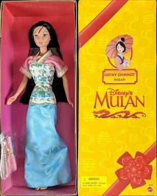 1998 Mulan Satiny Shimmer Barbie Doll Mattel